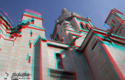 Sacre Coeur 3D Sacre Coeur, Montmartre, Paris, France, Paris 2010,travel, photography,favorites,anaglyph 3D
